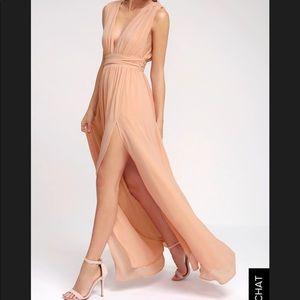 Lulu's Heaven Hues Blush Maxi Dress